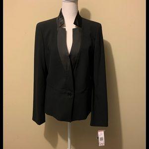 NWT Anne Klein Black Tuxedo style blazer jacket 10